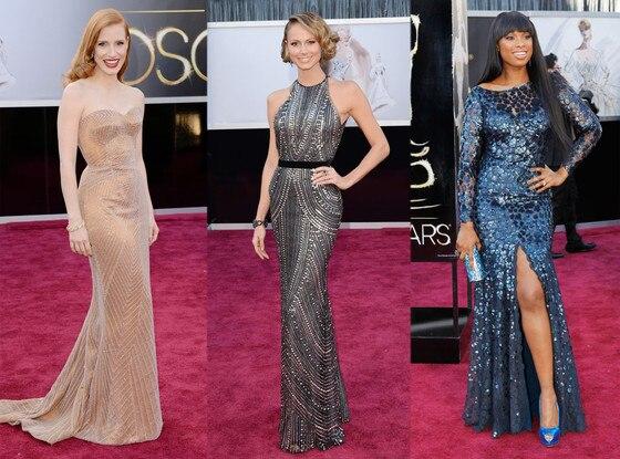 Jessica Chastain, Stacy Keibler, Jennifer Hudson, Oscars 2013