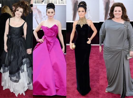 Oscars 2013, Best Dressed: Helena Bonham Carter, Salma Hayek, Fan Bingbing, Melissa McCarthy