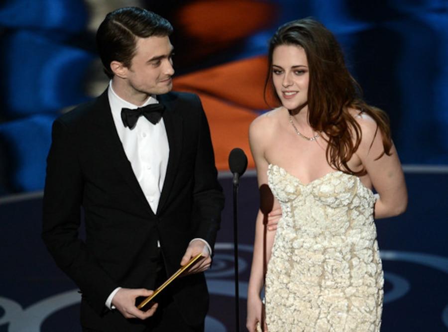 Oscars 2013 Show, Daniel Radcliffe, Kristen Stewart
