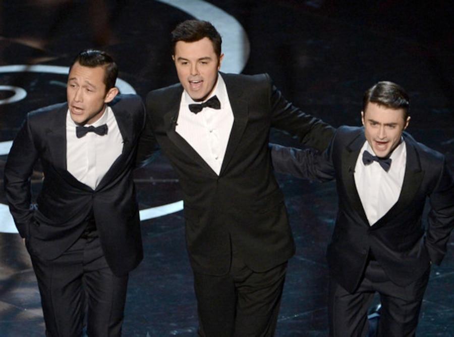 2013 Oscars Show, Joseph Gordon-Levitt, Seth MacFarlane, Daniel Radcliffe