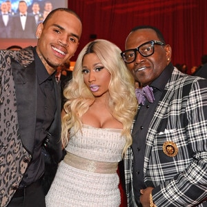 Chris Brown, Nicki Minaj, Randy Jackson, Elton John Oscars Party