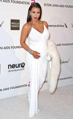 Kim Kardashian, Elton John Oscars Party