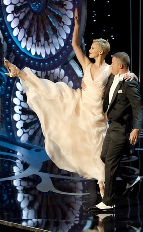 2013 Oscars Show, Channing Tatum, Charlize Theron