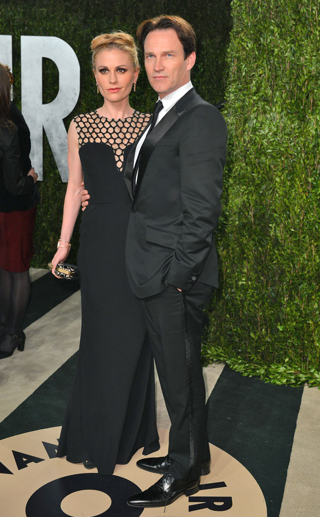 Anna Paquin, Stephen Moyer, 2013 Vanity Fair Oscar Party