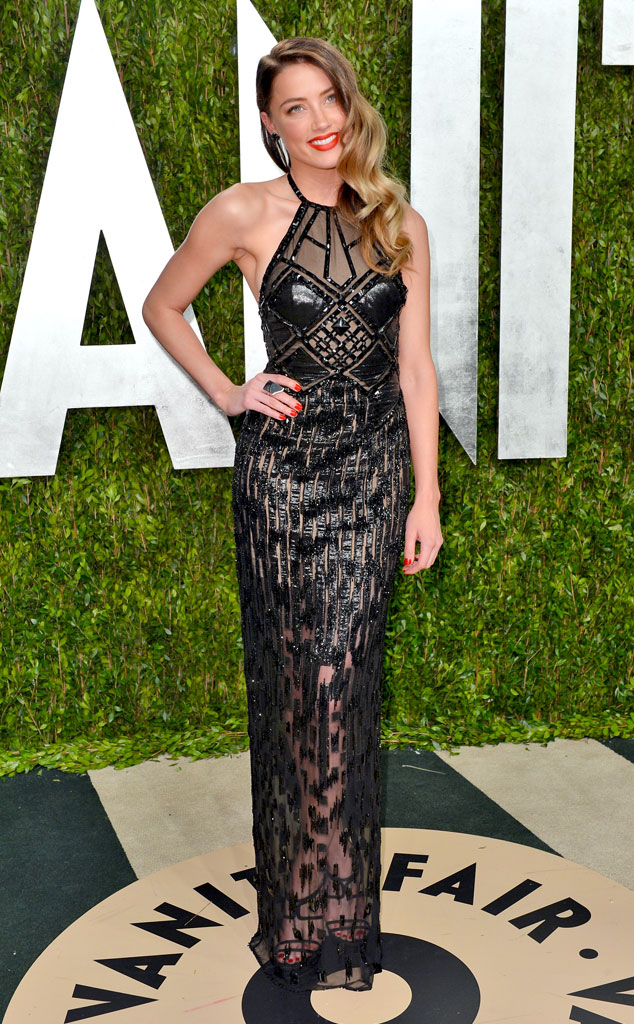 Amber Heard, 2013 Vanity Fair Oscar Party