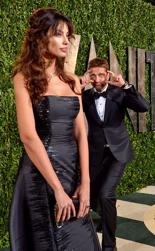 Madalina Ghenea, Gerard Butler, 2013 Vanity Fair Oscar Party