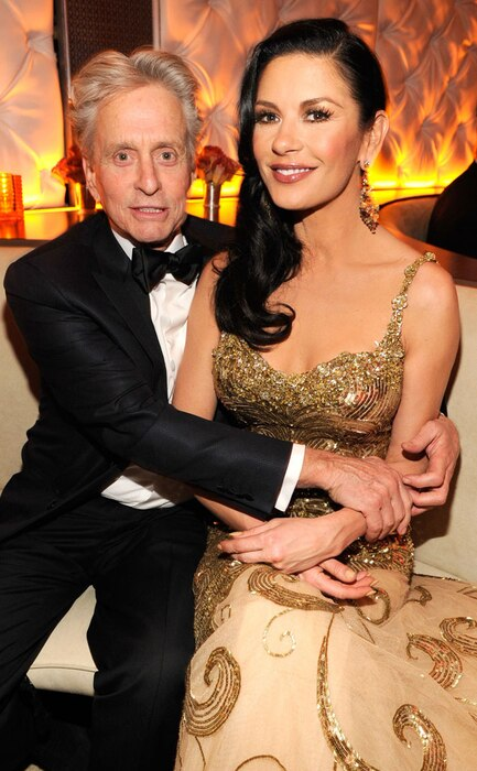 Michael Douglas, Catherine Zeta-Jones, 2013 Vanity Fair Oscar Party