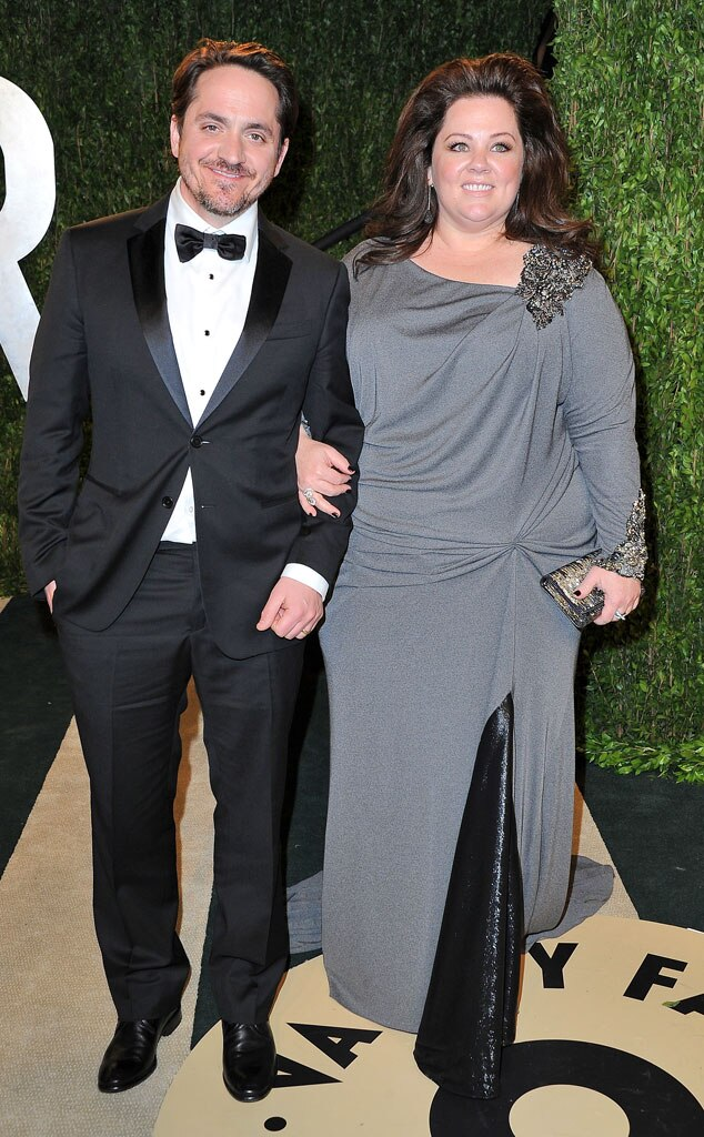Melissa McCarthy, Ben Falcone, 2013 Vanity Fair Oscar Party