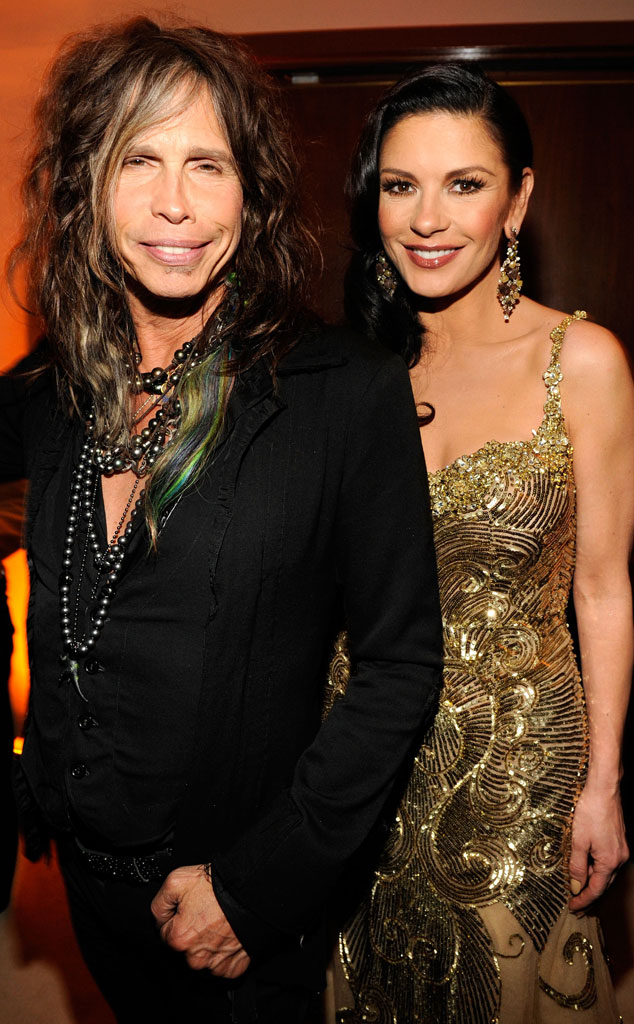 Steven Tyler, Catherine Zeta-Jones, 2013 Vanity Fair Oscar Party