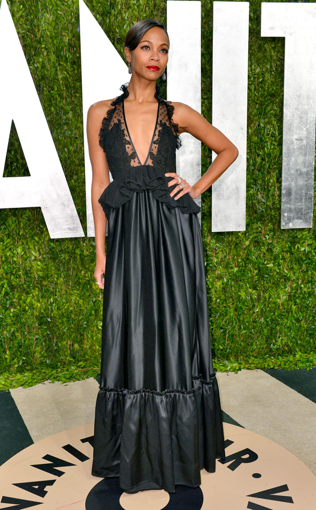 Zoe Saldana, 2013 Vanity Fair Oscar Party