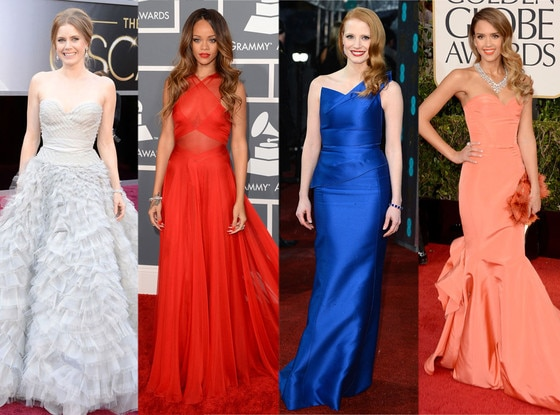 Best Dressed, Awards Season, Amy Adams, Rihanna, Jessica Chastain, Jessica Alba