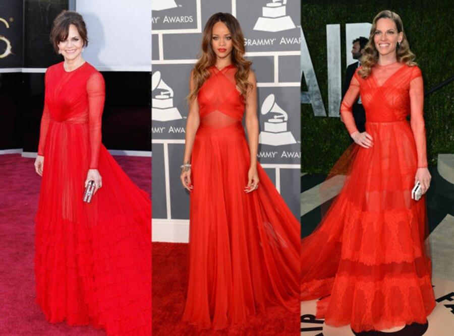 Sally Field, Rihanna, Hilary Swank