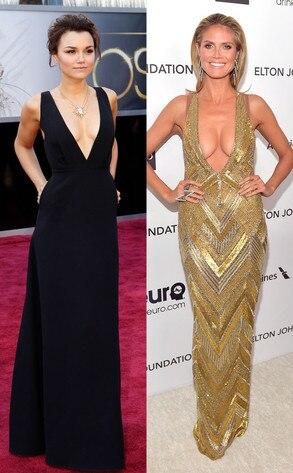 Heidi Klum, Samantha Barks, Oscars 2013