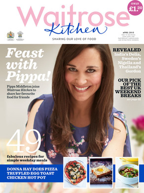 Pippa Middleton, Waitrose Kitchen Magazine