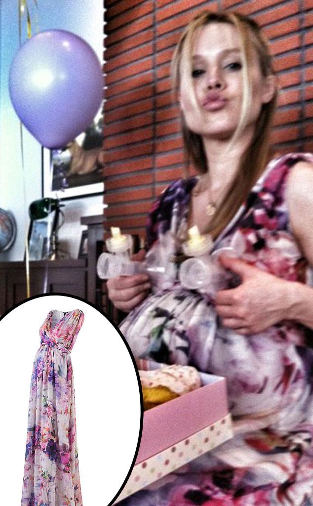 Kristen Bell, Twit Pic, Maternity Dress