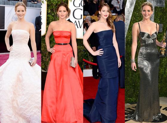 Jennifer Lawrence, Top Red Carpet Moments