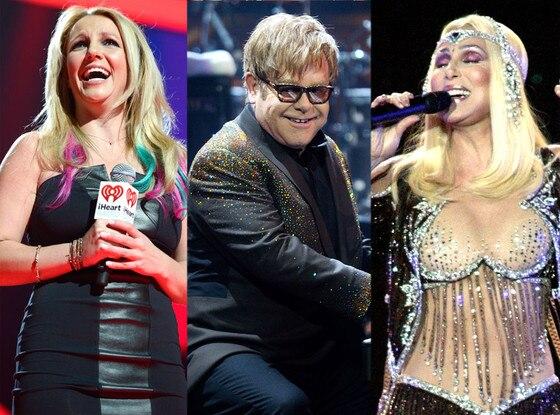 Britney Spears, Elton John, Cher