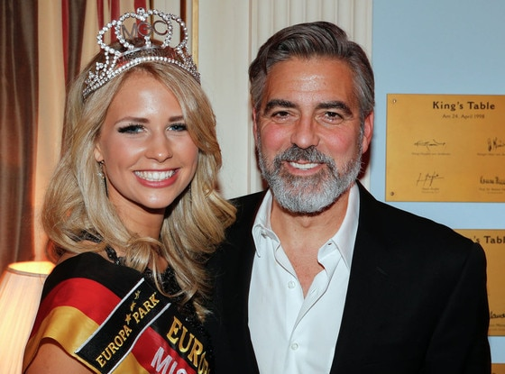George Clooney, Caroline Noeding, Miss Germany