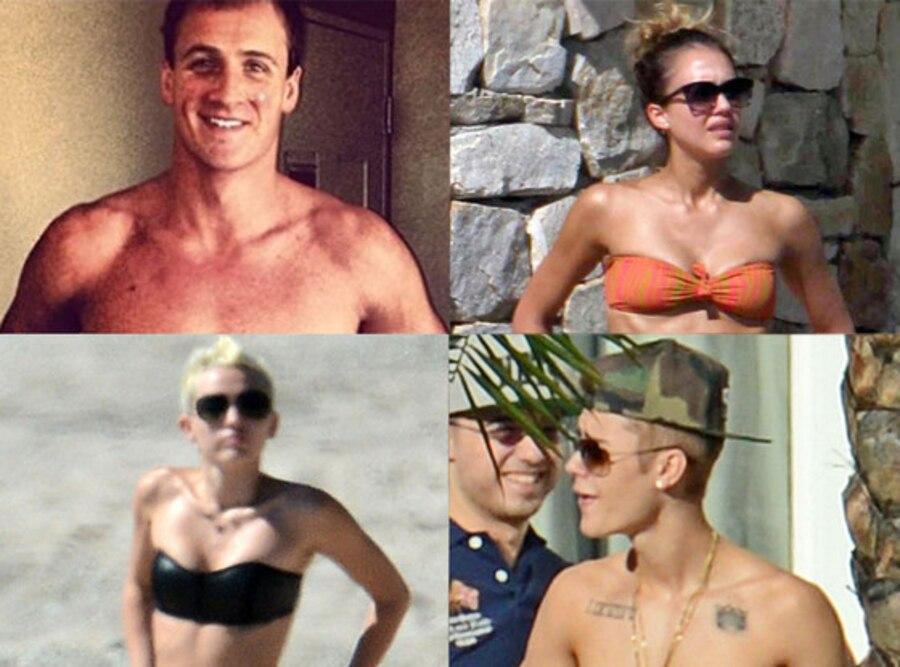 Ryan Lochte, Jessica Alba, Miley Cyrus, Justin Bieber