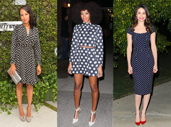 Polka Dots: Kerry Washington, Solange Knowles, Emmy Rossum