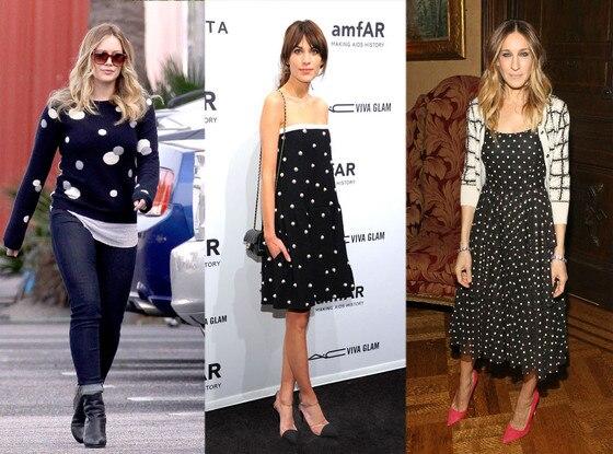 Polka Dots: Hilary Duff, Alexa Chung, Sarah Jessica Parker