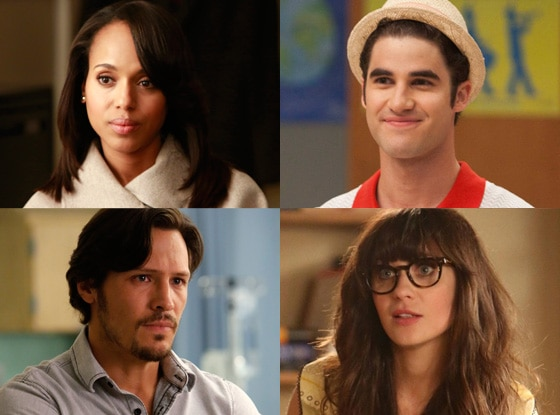 Darren Criss, Glee, Kerry Washington, Scandal, Nick Wechsler, Revenge, Zooey Deschanel, New Girl