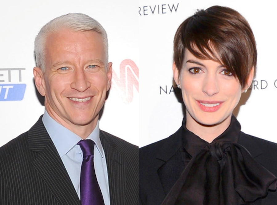 Anne Hathaway, Anderson Cooper