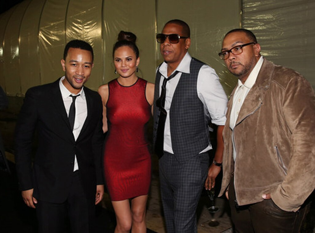 John Legend, Chrissy Tiegren, Jay-Z, Timbaland
