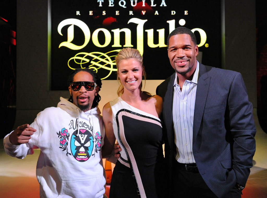 Lil Jon, Michael Strahan and Erin Andrews