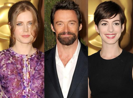 Amy Adams, Anne Hathaway, Hugh Jackman