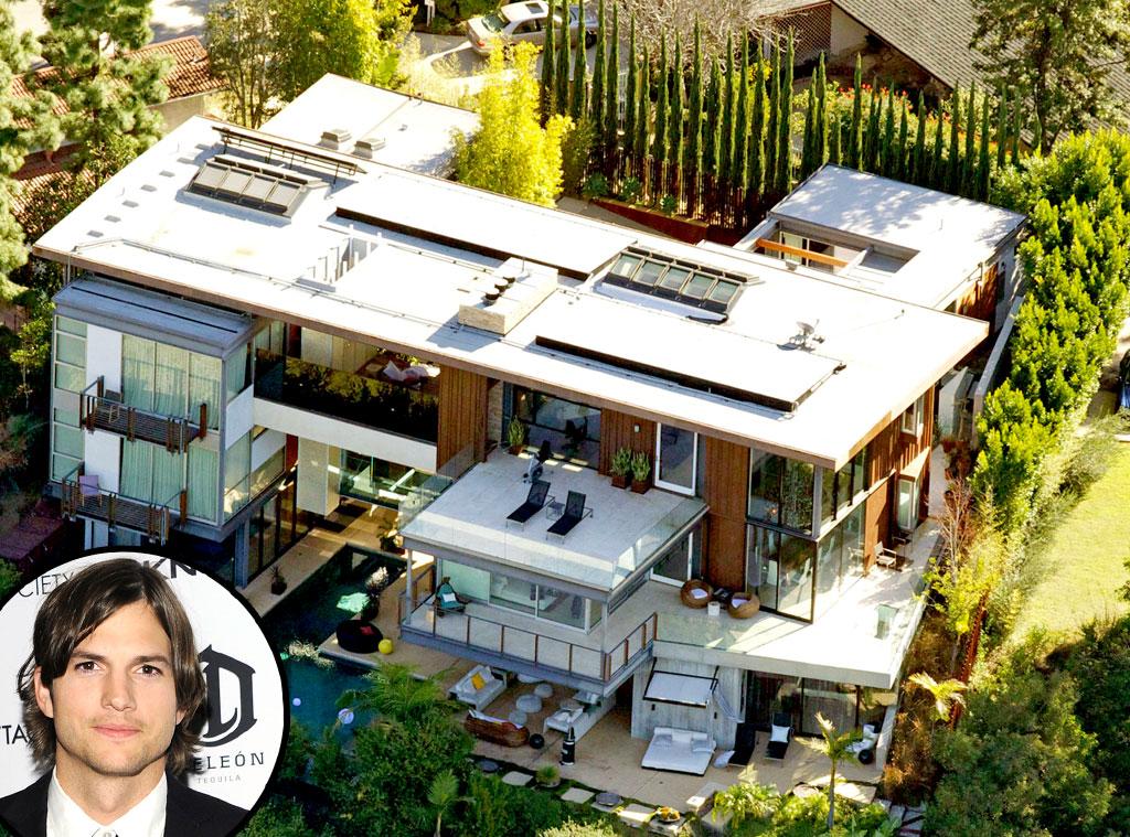 Ashton kutcher from m ga maisons de c l brit s e news for Ashton house