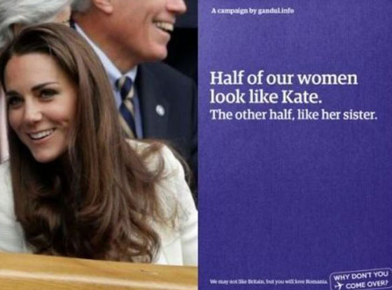 Kate Middleton Romania campaign