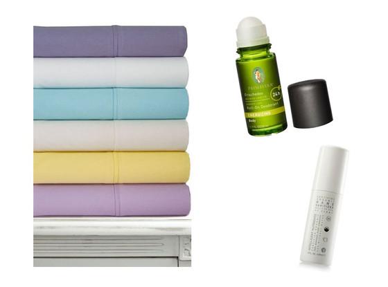 Ashlan, Sheet set, Primavera Roll-on Deodorant, Hand Sanitizer