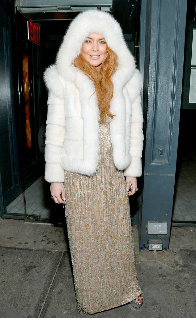 Lindsay Lohan From Stars Wearing Fur Real Amp Faux E News