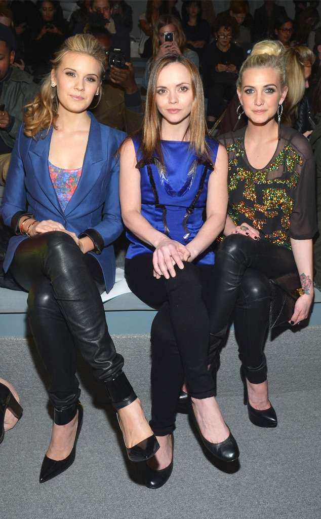 Maggie Grace, Christina Ricci, Ashlee Simpson, Mercedes-Benz Fashion Week