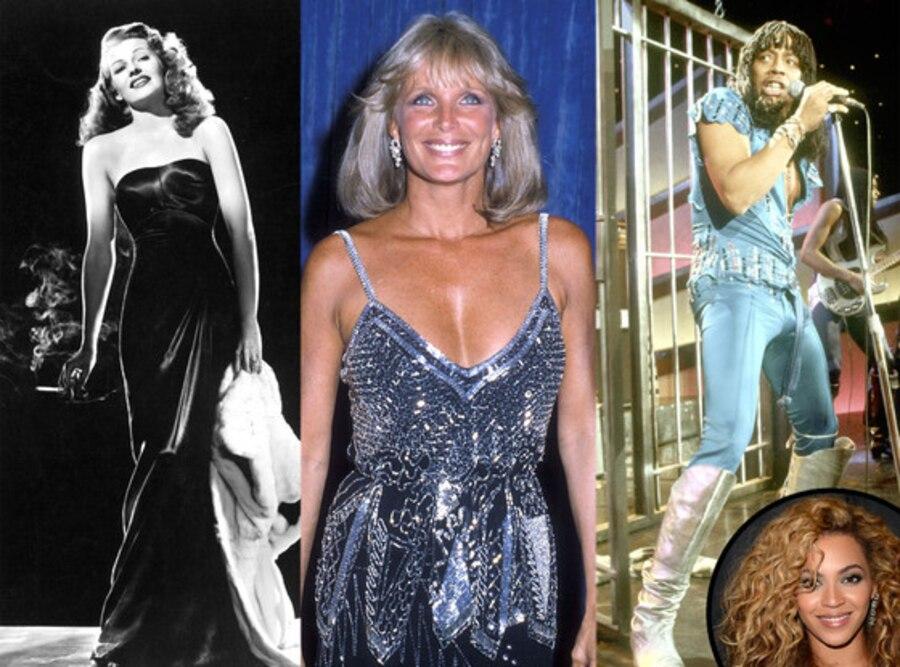 Beyonce, Linda Evans, Dynasty, Rita Hayworth, Gilda, Rick James