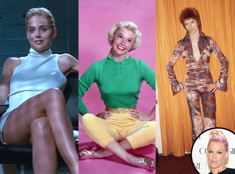 Pink, Sharon Stone, Basic Instinct, Doris Day, David Bowie, Ziggy Stardust