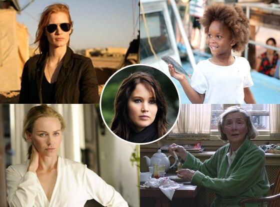 Naomi Watts, Jessica Chastain, Emmanuelle Riva, Quvenzhané Wallis, Jennifer Lawrence