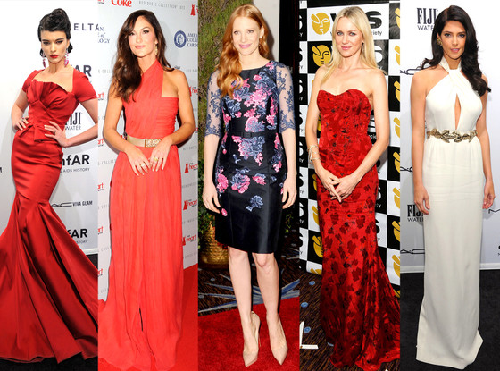 Crystal Renn, Minka Kelly, Jessica Chastain, Naomi Watts, Ashley Greene