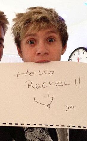 Rachel Shenton, Niall Horan, Twitter