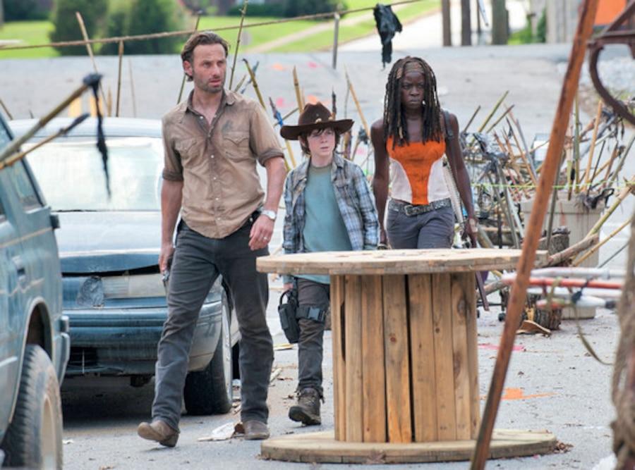 Andrew Lincoln, Chandler Riggs, Danai Gurira, The Walking Dead