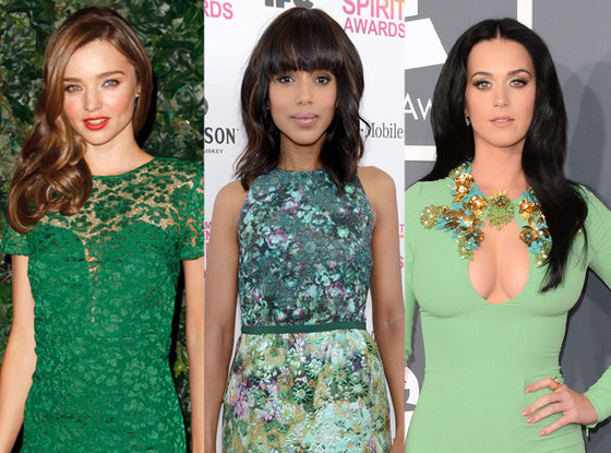 Miranda Kerr, Kerry Washington, Katy Perry