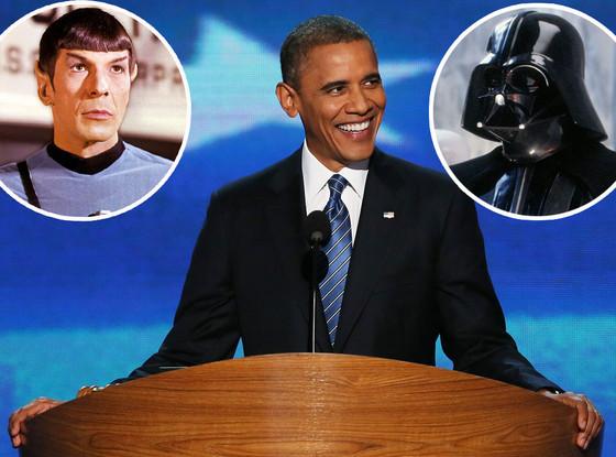 Barack Obama, Spock, Darth Vadar