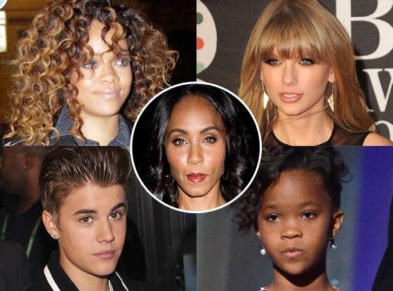 Jada Pinkett Smith, Taylor Swift, Justin Bieber, Rihanna, Quvenzhane Wallis