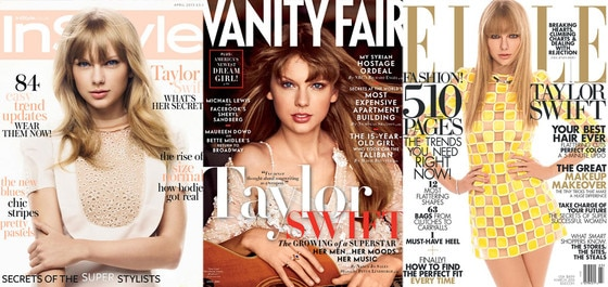 Taylor Swift, Vanity Fair, InStyle UK, Elle