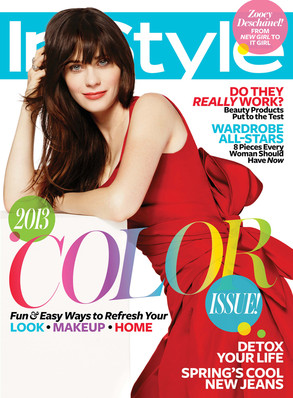 Zooey Deschanel, InStyle Magazine Cover