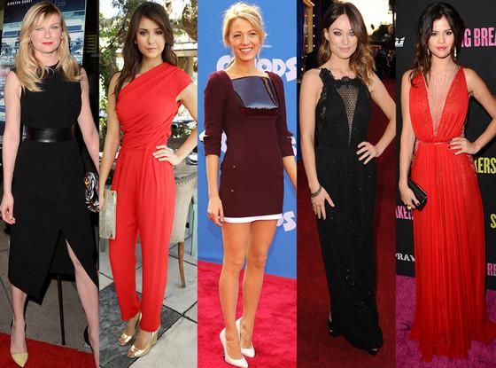 Blake Lively, Selena Gomez, Kirsten Dunst, Nina Dobrev, Olivia Wilde