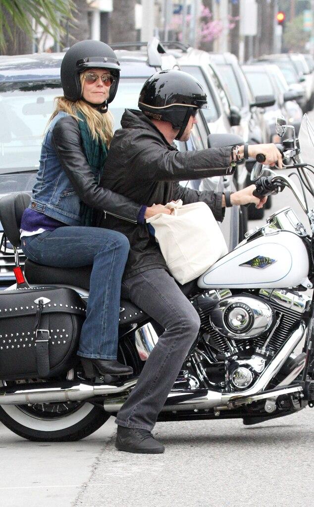 Heidi Klum, Martin Kristen, Motorcycle