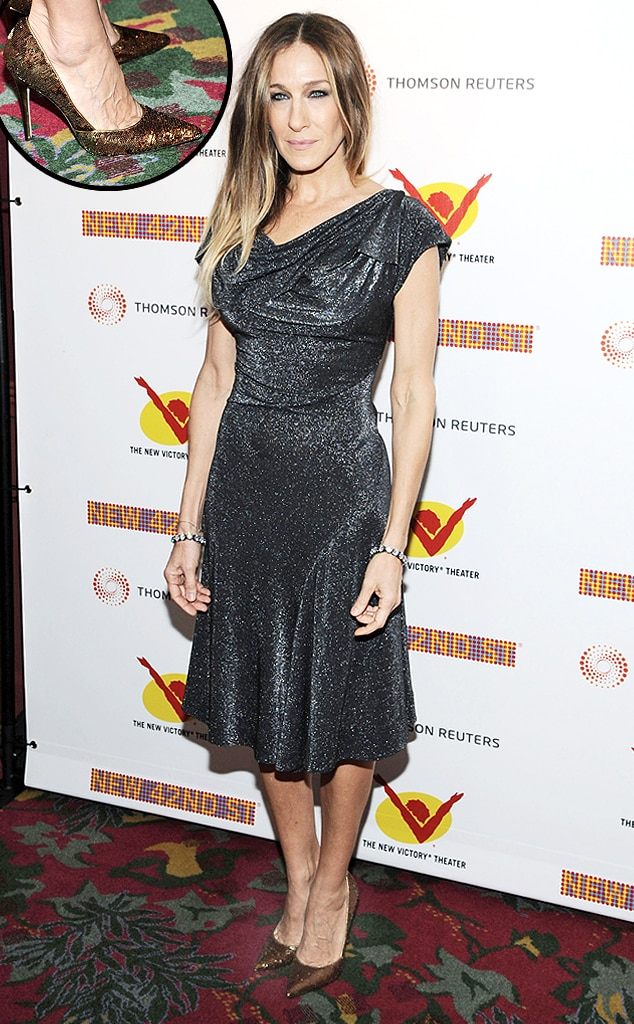 Sarah Jessica Parker, Metallic Shoes