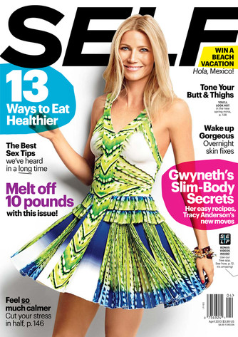 Gwyneth Paltrow, Self Magazine Cover